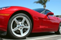 An image of a red sports car symbolizing the need for personal auto insurance.